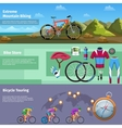 Extreme mountain biking bike store bicycle vector image