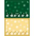 green and gold christmas greetings vector image