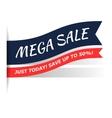 Mega sale flat icon vector image