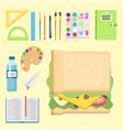 school supplies children stationary educational vector image
