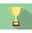 trophy flat isolated with green background and vector image