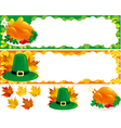 two web banners for thanksgiving vector image