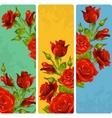 Red Rose frames set vector image vector image