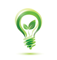 green bulb eco energy concept vector image