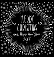 Merry Christmas Holiday Lettering Composition vector image