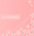 Abstract pink background with waves and flowers vector image