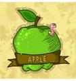Retro Fresh Apple Poster Design vector image