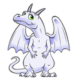 white dragon vector image
