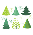 Christmas trees vector image vector image
