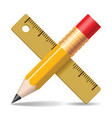 Pencil ruler vector image