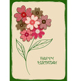 Holiday card or invitation with bouquet of flower vector image