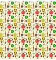 seamless pattern garden supplies vegetables vector image