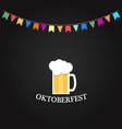 Beer Festival Glass of beer on a chalkboard vector image