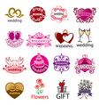big set of logos for wedding vector image
