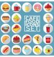 Food flat shadow vector image