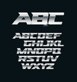 modern chrome font metallic letters vector image