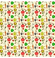 seamless pattern garden supplies vegetables vector image