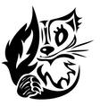 tattoo cat vector image