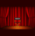 theater stage with curtain with chair for vector image