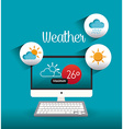 Weather mobile app design vector image