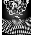 Abstract sphere with surface Concept business vector image