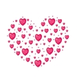 Jewel Heart shaped Valentines day love romance vector image