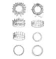 Roman Crowns vintage engraving vector image vector image