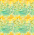 Seamless green and yellow ornament vector image vector image