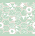hand drawn doodle hexagons seamless pattern vector image