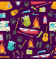 Camping seamless pattern vector image