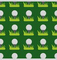 seamless background design with golf ball detail vector image