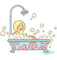 Girl bathroom vector image