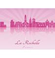 La Rochelle skyline in purple radiant orchid vector image vector image