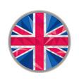 Union Jack UK GB Flag Circle Low Polygon vector image vector image