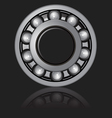 Bearings on a black background vector image