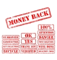 Set rubber stamps vector image vector image