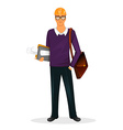 Architect man character image vector image