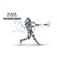 Baseball Batter Hitting Ball particle divergent vector image
