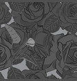 beautiful black gray and white rose flower vector image