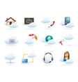Cloud computing concept Icon vector image