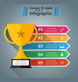 cup champion - business infographic vector image