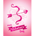 Cupids bow Valentines Day card vector image