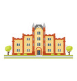 educational building university vector image