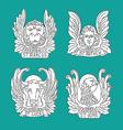 Four evangelists line symbols vector image