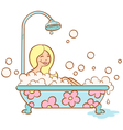 Girl bathroom vector image