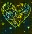 mechanical heart vector image