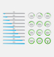 progress bars elements vector image