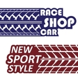 Race logotypes set vector image