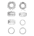 Roman Crowns vintage engraving vector image