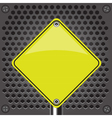 yellow sign vector image